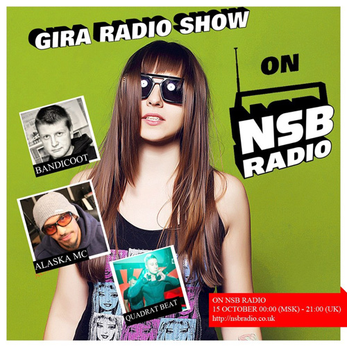 GIRA RADIO SHOW ON NSB RADIO feat. QUADRAT BEAT (EXPAND RECORDS), BANDICOOT (VERTIGO PROMOTION)